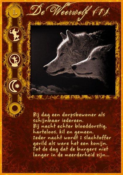 """""""De Weerwolf"""" kaart"""